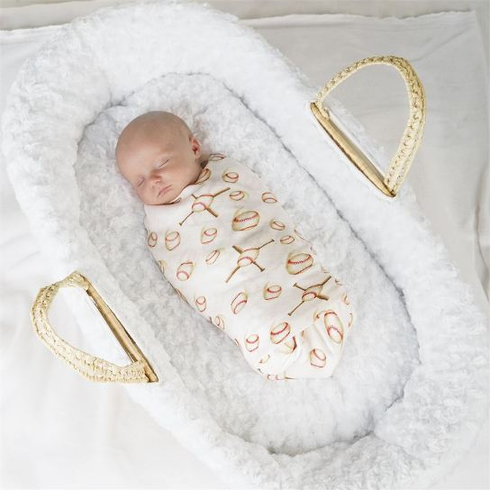 Baseball Swaddle Blanket 2pc Set
