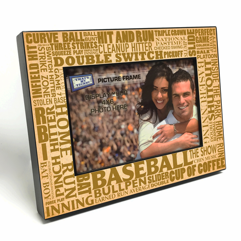 Baseball Terms 4x6 Wooden Photo Frames<br>2 COLORS!