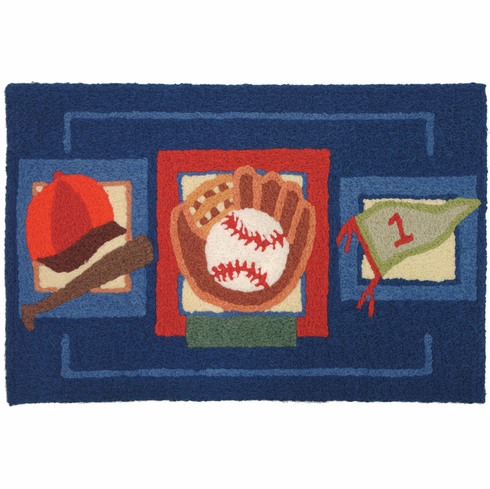 Baseball Time 22x34 Indoor Outdoor Rug