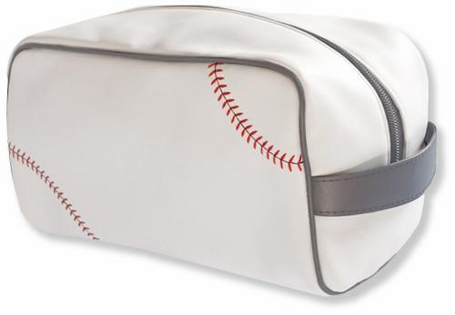 White Baseball Toiletry Bag