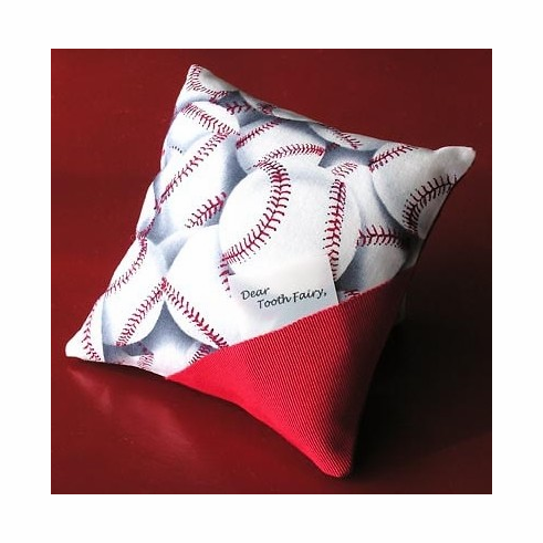 Baseball Tooth Fairy Pillow