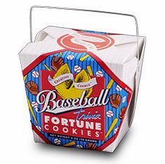 Baseball Trivia Fortune Cookies in Pail