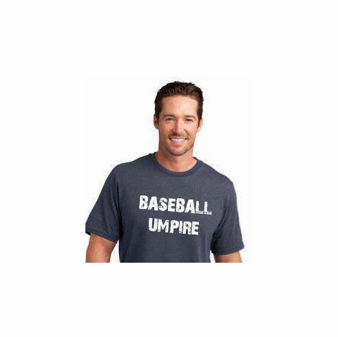 Baseball Umpire T-Shirt<br>Choose Your Color<br>Youth Med to Adult 4X