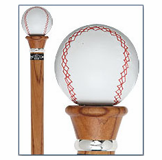Baseball Walking Stick / Cane with Rosewood Shaft and Collar<br>SOLD OUT!