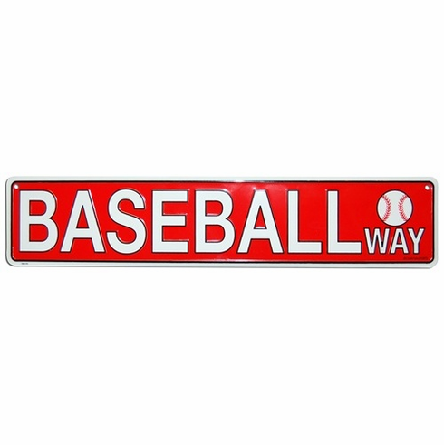 BASEBALL WAY Aluminum Sign