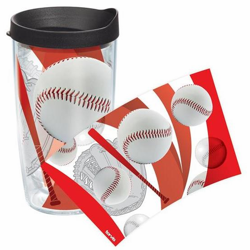 Baseball Wrap 16oz Tumbler with Lid by Tervis