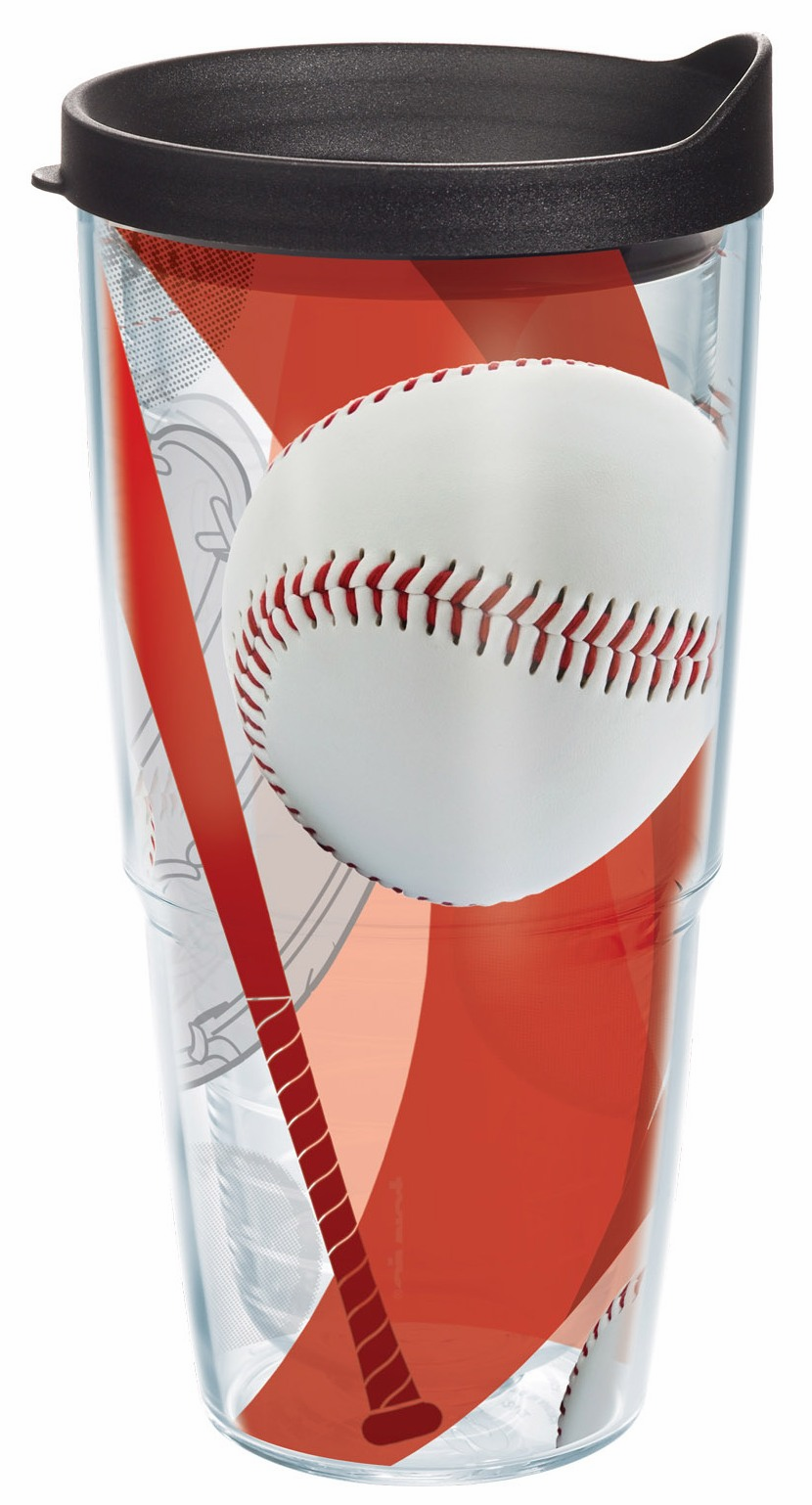 Baseball Wrap 24oz Tumbler with Lid by Tervis