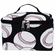 NGIL Baseballs on Black Cosmetic Pouch<br>LESS THAN 6 LEFT!