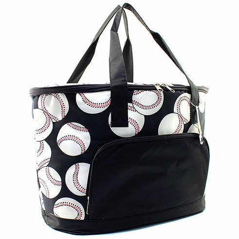 NGIL Baseballs on Black Small Insulated Cooler Bag