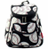 NGIL Baseballs on Black Quilted Mini Backpack