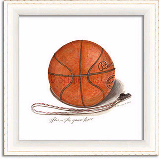 Basketball Art Framed Print