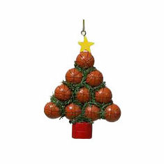 Basketball Christmas Tree Ornament<br>ONLY 7 LEFT!