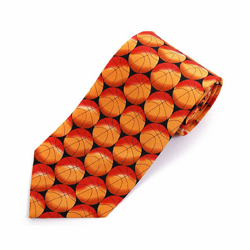 Basketball Men's Polyester Tie<br>ONLY 2 LEFT!