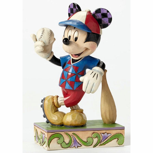 Batter Up Baseball Mickey Mouse Figurine
