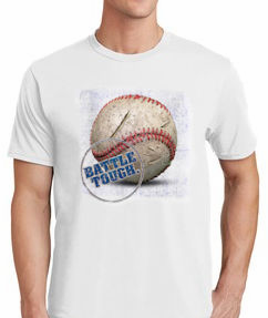 Battle Tough. Baseball T-Shirt<br>Choose Your Color<br>Youth Med to Adult 4X