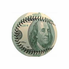 Ben Franklin $100 Money Baseball