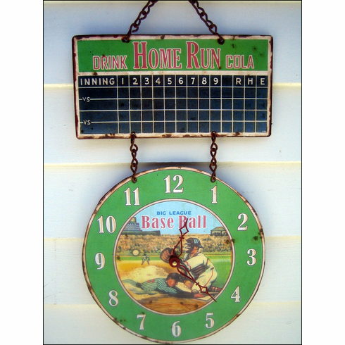 Big League Baseball Hanging Wall Clock<br>ONLY 1 LEFT!