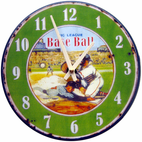 Big League Baseball Wall Clock