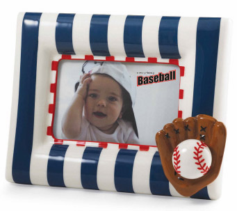 Blue and White 4x6 Baseball Frame