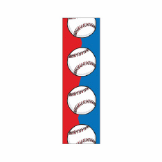 Blue & Red Baseball Bookmark