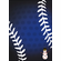 Personalized Blue Snowflakes Baseball Snowman Holiday Cards<br>5 PACK MINIMUM!
