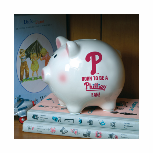 Born to be a Philadelphia Phillies Fan! Piggy Bank<br>ONLY 1 LEFT!