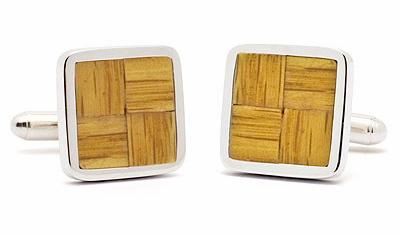 Boston Garden Parquet Floor Cufflinks<br>ONLY 2 PAIRS LEFT!