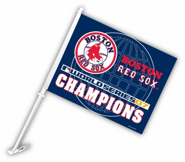 Boston Red Sox 2007 World Series Champions Car Flag