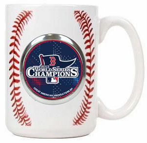 Boston Red Sox 2013 World Series Champions 15oz Ceramic Gameball Mug<br>ONLY 2 LEFT!