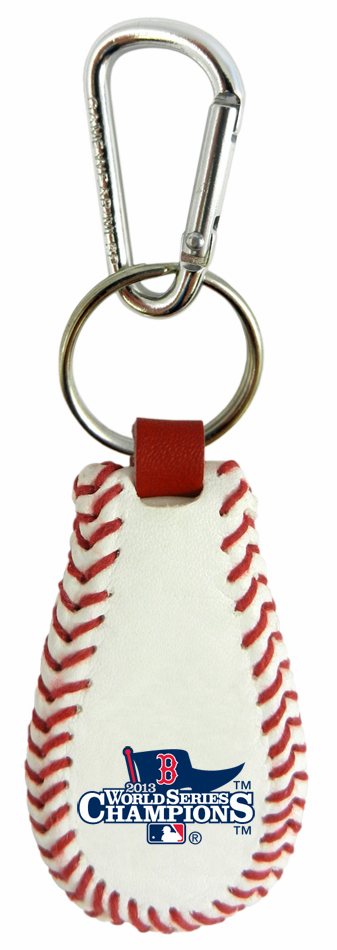 Boston Red Sox 2013 World Series Champions Baseball Seam Keychain<br>LESS THAN 12 LEFT!