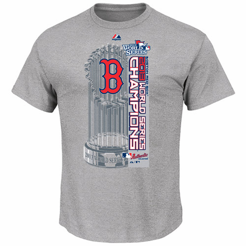 Boston Red Sox 2013 World Series Champions Clubhouse Locker Room Adult T-Shirt