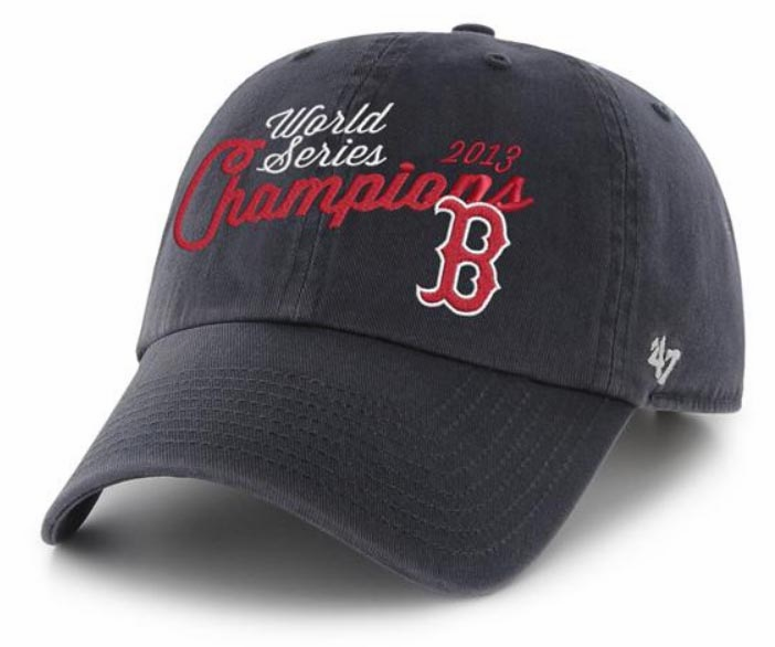 Boston Red Sox 2013 World Series Champions Navy Blue Hat<br>ONLY 2 LEFT!