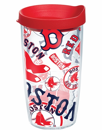 Boston Red Sox All Over Wrap Set of Cups with Lids by Tervis