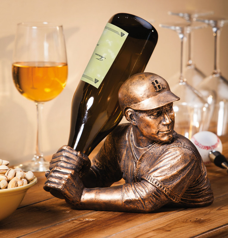 Boston Red Sox Bam Vino Baseball Batter Wine Bottle Holder