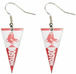 Boston Red Sox Baseball Pennant Earrings<br>LESS THAN 6 LEFT!