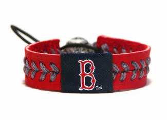 Boston Red Sox<br>Baseball Seam Team Colored Bracelet