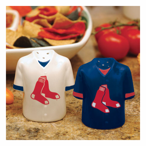 Boston Red Sox Ceramic Jersey Salt & Pepper Shakers<br>ONLY 1 SET LEFT!
