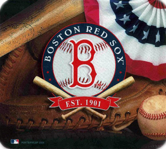 Boston Red Sox<br>Crossed Bats Mousepad<br>ONLY 1 LEFT!