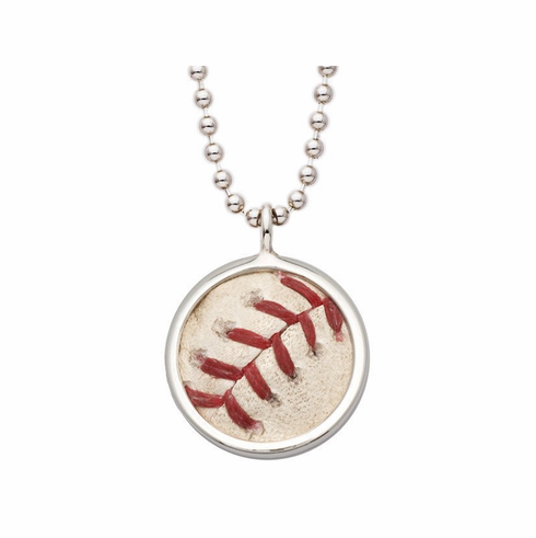 Boston Red Sox Game Used Baseball Pendant and Necklace<br>ONLY 1 LEFT!