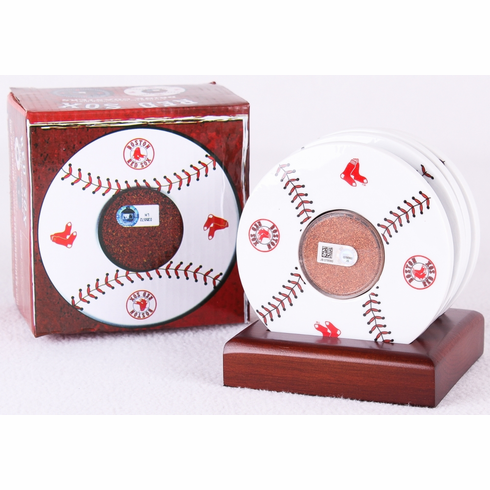 Boston Red Sox Game Used Dirt Coaster Set<br>ONLY 4 LEFT!