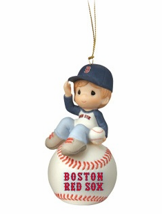 Boston Red Sox I Have A Ball With You Baseball Boy Retired Ornament by Precious Moments<br>ONLY 2 LEFT!