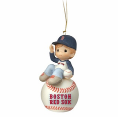 boston red sox i have a ball with you baseball boy retired ornament by precious moments