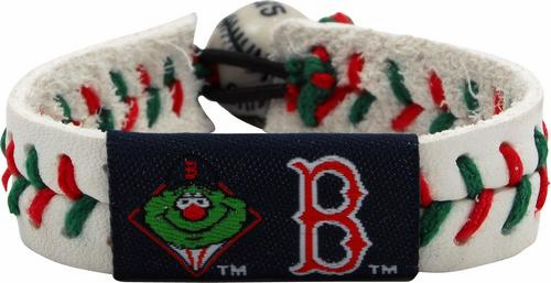 Boston Red Sox Mascot Wally the Green Monster<br>Baseball Seam Bracelet