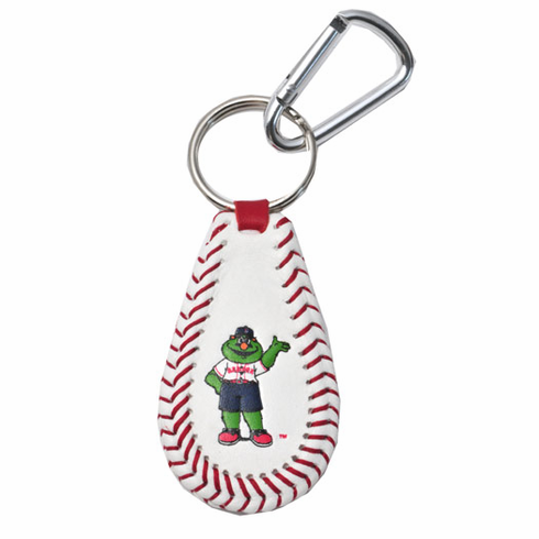 Boston Red Sox Mascot Wally the Green Monster<br>Baseball Seam Keychain