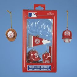 Boston Red Sox Mini Ornament Set