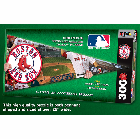 Boston Red Sox MLB Pennant Shaped 300pc Puzzle