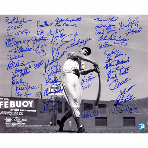 Boston Red Sox Multi-Signed Black & White 'Ted Williams Horizontal' 16x20 Photo (50 Signatures)