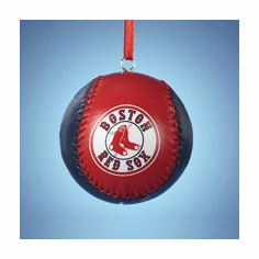 Boston Red Sox Photo Baseball Mini Ornament