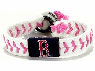 Boston Red Sox Pink Baseball Seam Bracelet
