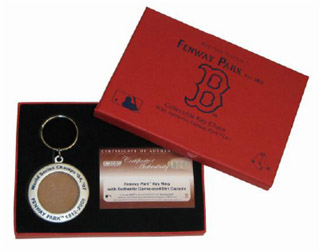 Boston Red Sox World Series Champs '04 '07 Collectible Dirt Key Chain